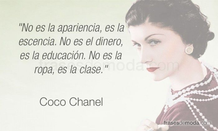 Frase de moda de Coco Chanel