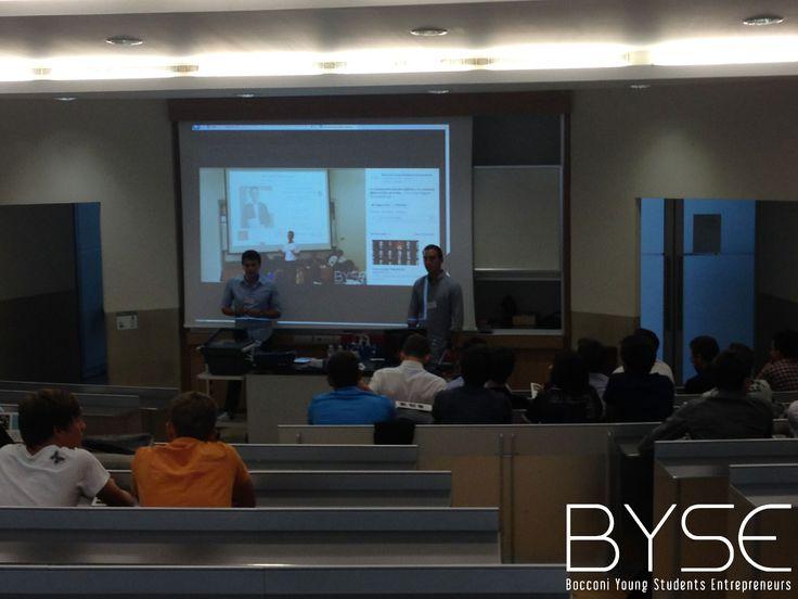 La presentazione di Byse durante la Business Competition realizzata per la Welcome Week 2014 delle Matricole