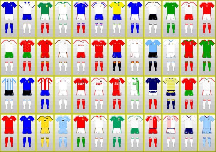 Uniformes Copa Mundial de Futbol: MEXICO 1986