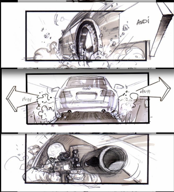 Best Car Chase Storyboards Images On   Comics