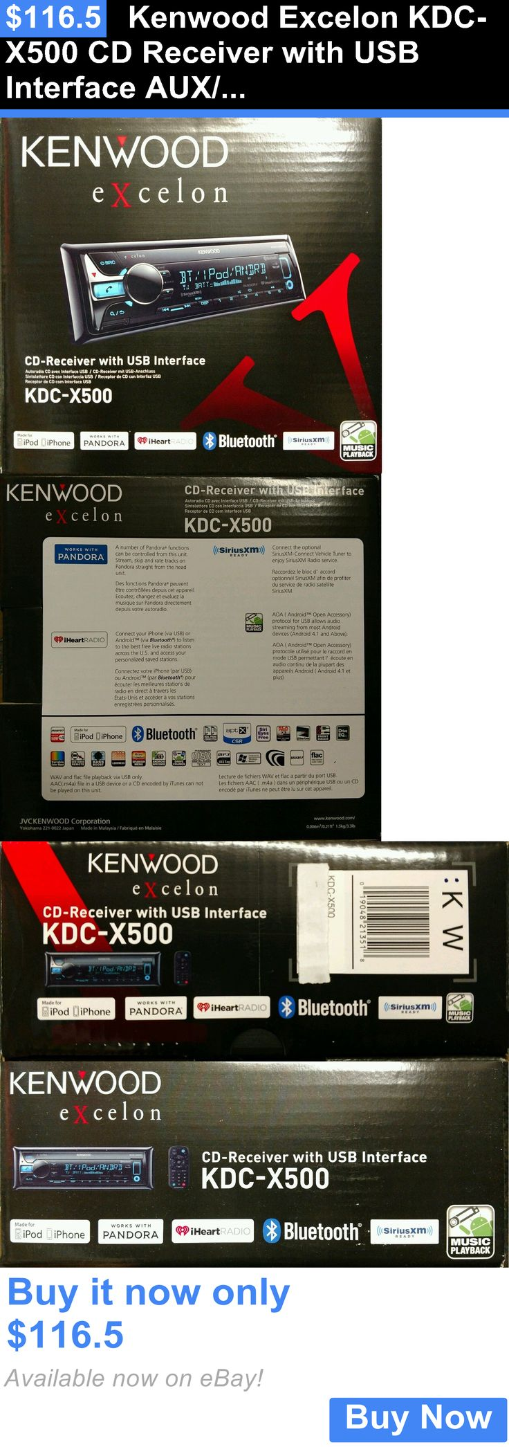 Car Audio In-Dash Units: Kenwood Excelon Kdc-X500 Cd Receiver With Usb Interface Aux/Bt/Siriusxm BUY IT NOW ONLY: $116.5