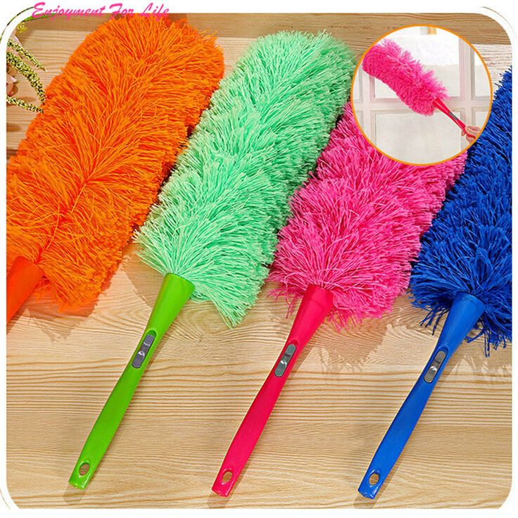 Magic Soft Microfiber Cleaning Duster Dust Cleaner 2016 Wholesale High Quality Handle Feather Static Anti  Free Shipping Dec 15