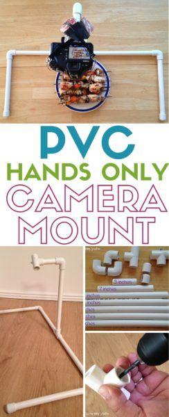 Set up your video studio with an overhead hands only camera mount with PVC pipe. An inexpensive DIY camera mount that you won't know how you lived without.