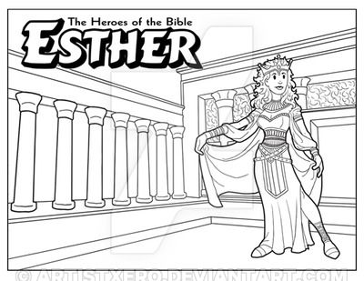 Esther Coloring Page By ArtistXero On DeviantArt
