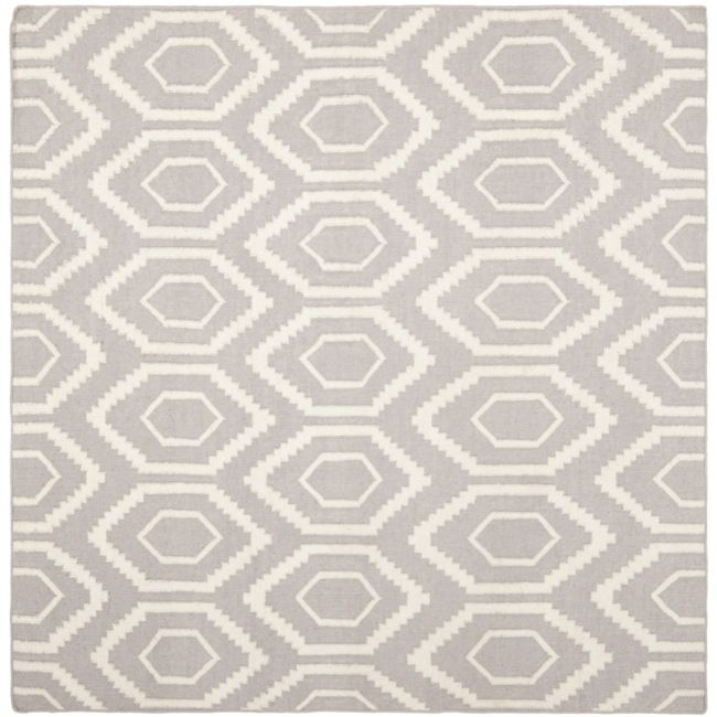 Safavieh Geometric Moroccan Reversible Dhurrie Grey/Ivory Wool Rug Square)    Overstock™ Shopping   Great Deals On Safavieh Round/Oval/Square