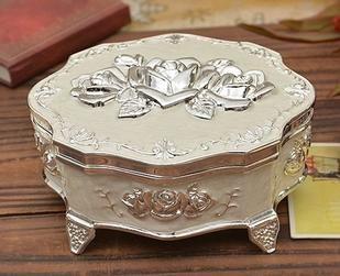antieke dressoir 2 stuks bloemen ijdelheid trinket sieraden kist doos vintage style metalen sieraden verpakking doos gratis verzending