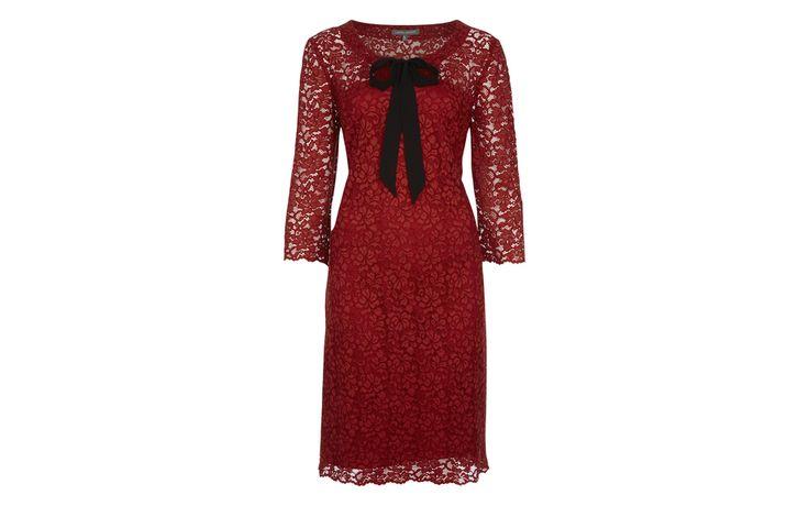 Chiffon Tie Detail Lace Dress