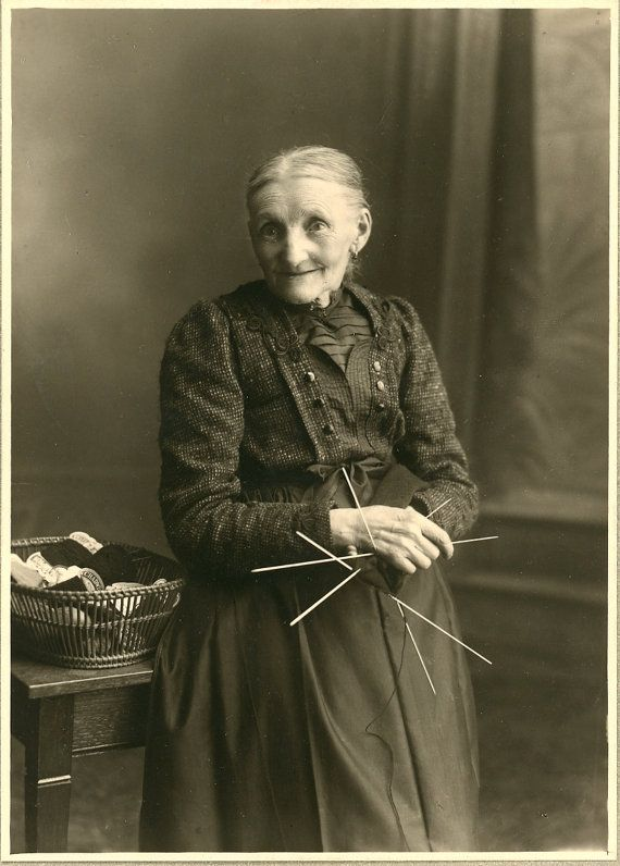 Old Lady Knitting Images : Images about vintage of people knitting on