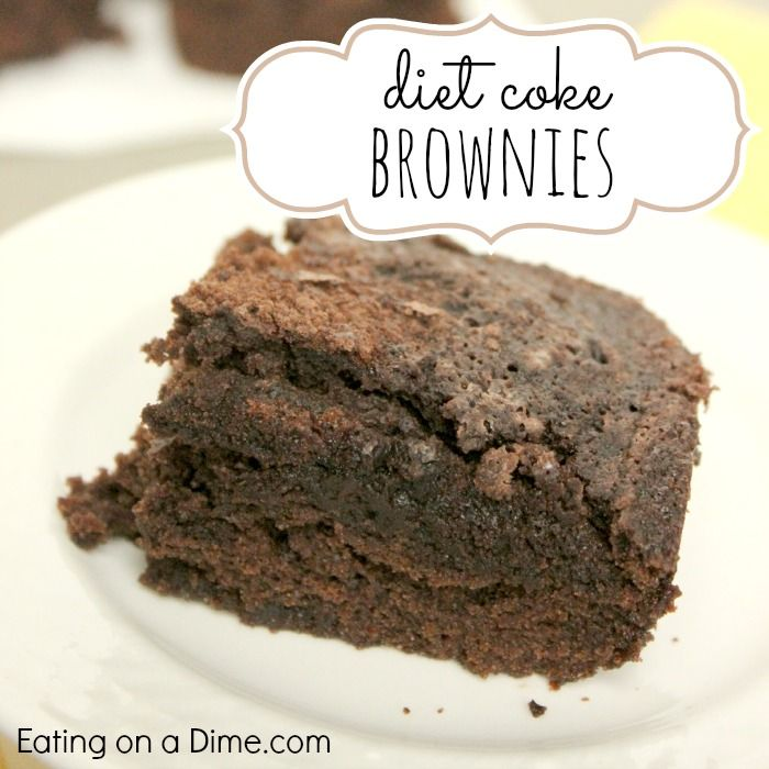 These Diet Coke Brownies are easy to make because you only need two ingredients - a can of diet coke and a box of brownie mix. They are delicious.