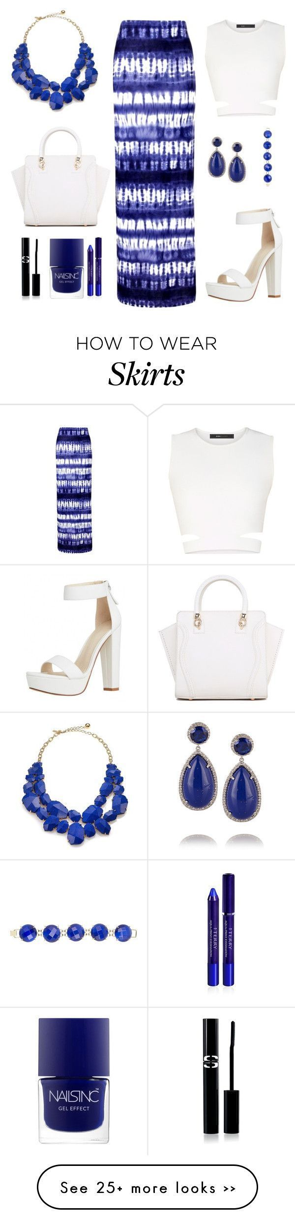 """Blue skirt"" by flo01 on Polyvore – #blue #flo01 #polyvore #skirt #Blue #"