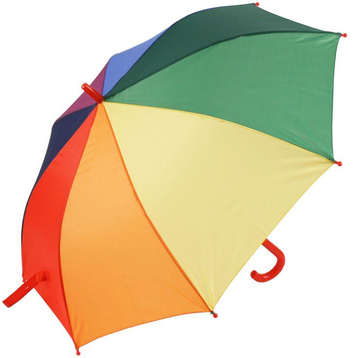 Susino X-Brella Children's Walking Length Rainbow Umbrella - Brolliesgalore