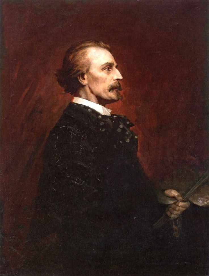 Luděk Marold - Portrait of Josef Mánes (1889)  #painting #art #Czechia