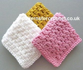 Free crochet pattern simple dishcloth usa