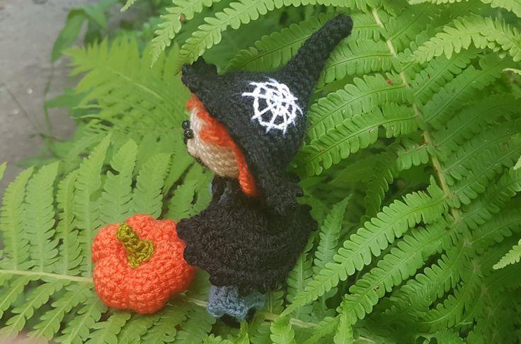 Вязание крючком игрушки амигуруми куклы Хэллоуин ведьма куклы