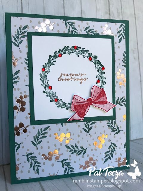 Wishing You Well Christmas Card Stampin Up Pinterest Christmas