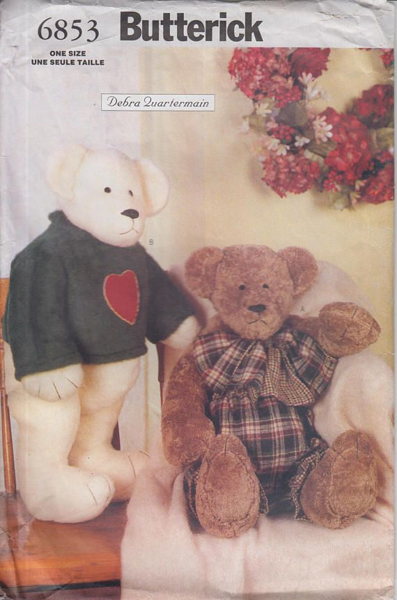 Sewing Pattern for Teddy Bears w Thread-Joined Limbs 23