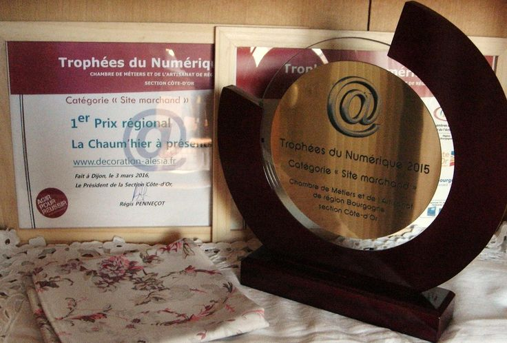 La Chaum'hier à Présents a gagné le Trophée du Numérique 2015 catégorie Site marchand le premier prix Côte d'Or et le premier prix Bourgogne.
