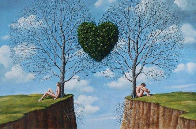 surreal- heart shaped bushes