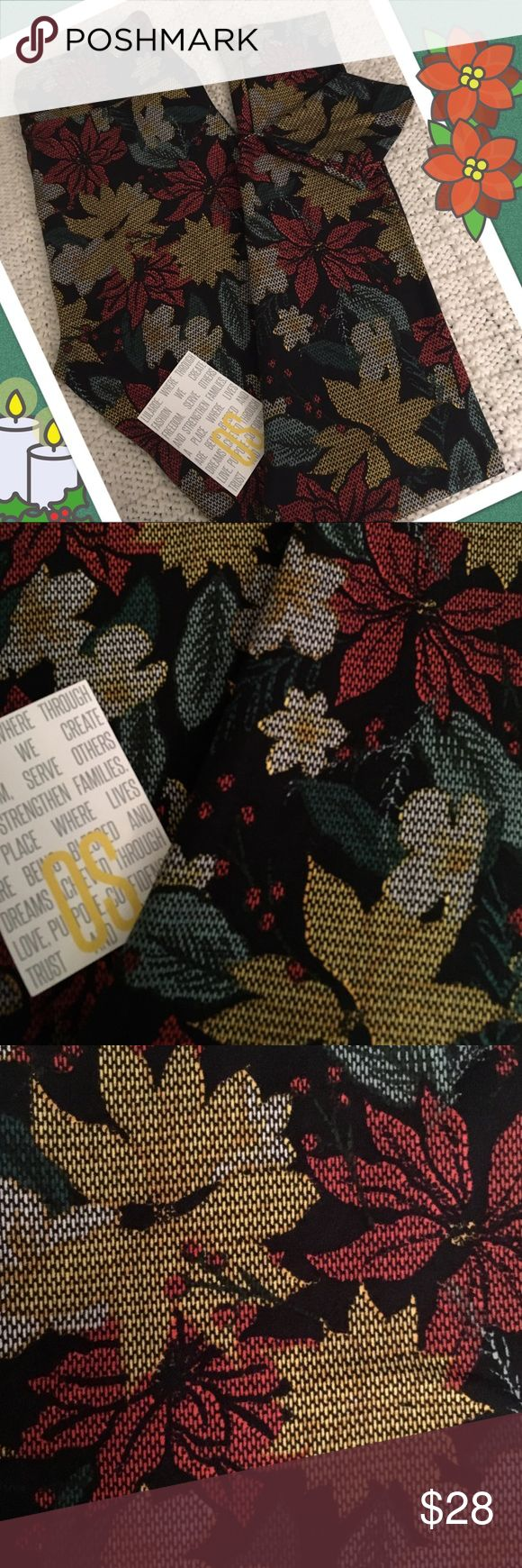 🌺Poinsettias! LulaRoe One Size Leggings!🌺 🌺LulaRoe One Size Leggings ~ Festive Flowers! ~ These bottoms have a black base that's full of festive flowers ~ You'll be sitting pretty in this poinsettia pair!🌺 *Cross posted to another site                                                                         All leggings are bought new from consultants and arrive with and without tags. Each pair is inspected and never, ever worn!:-) LuLaRoe Pants Leggings