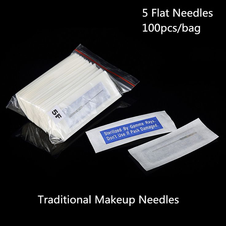 100Pcs Traditional 5 flat Needles For Eyebrow Permanent Makeup flat needles 3F Tattoo Needles Wholesale Price #Affiliate