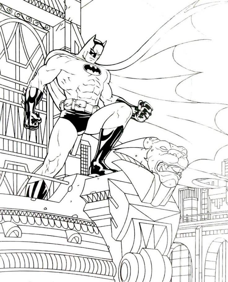 Batman Coloring Book Page Printable