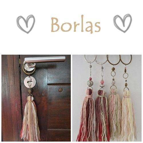 Lanas de otoño - borlas/tassels