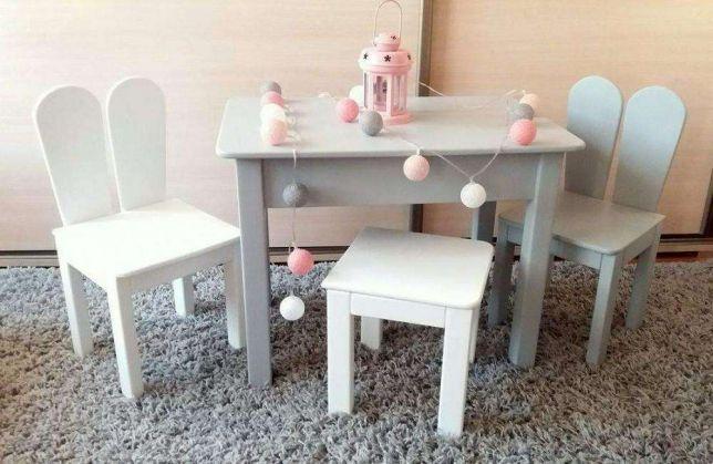 Stolik Dwa Krzesełka Drewniane Dla Dzieci 0 3 Radomsko