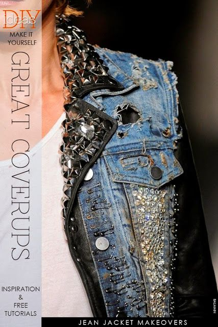 Ahhhh, the denim jacket never looked so good | read further to see creative ways to make your denim jacket a personal thing of beauty | DiaryofaCreativeFanatic