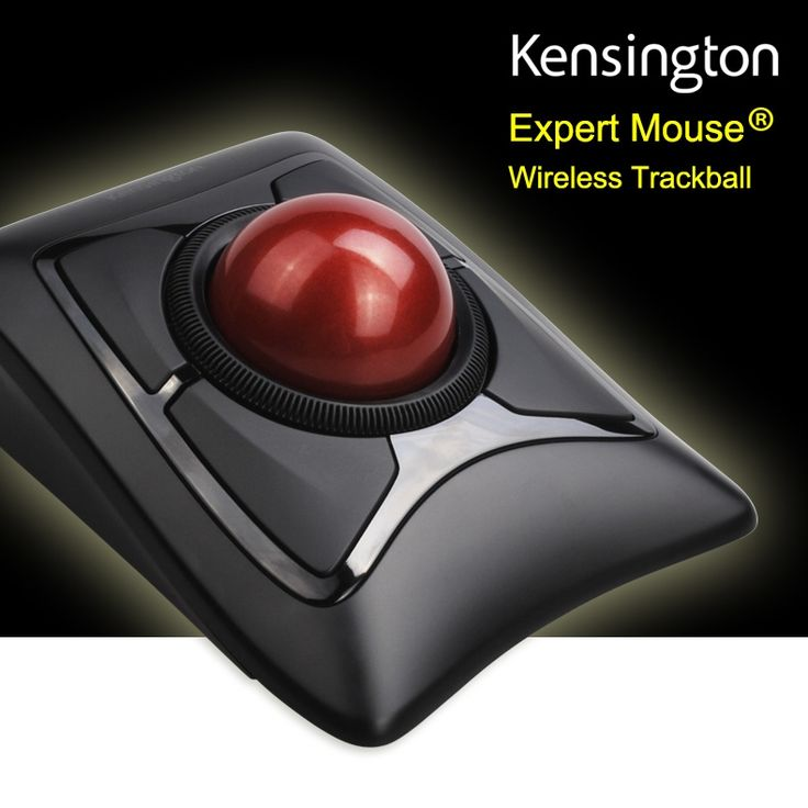 126.39$  Buy here  - Newest Kensington Wireless Expert Trackball Mouse 2.4GHz/Bluetooth 4.0(Large Ball Scroll Ring) with Retail Packaging