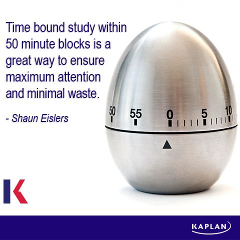 Study tip - Use time to your advantage. #careergoals #financetraining #learningtips