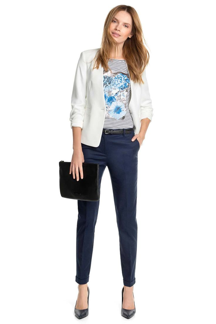 Spring outfit with white blazer