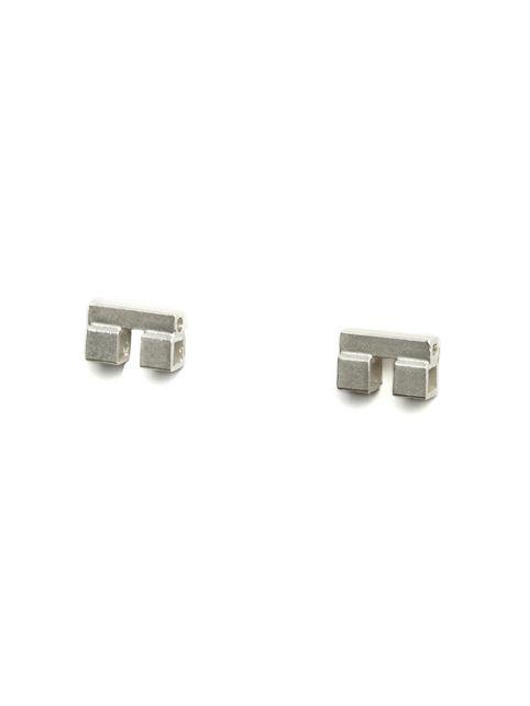 TURINA PIX2.2S earstuds from casted silver (925). 75 EUR via www.turinajewellery.com