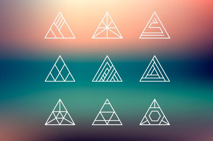 Hipster logo shapes bundle of 40 by Marylia on @creativemarket