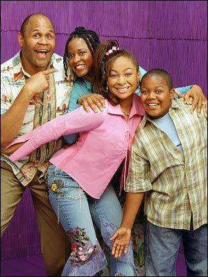 Patched Flare jeans with buttoned up shirts were a form of fashion! This was an old show in the early 2000's, Thats So Raven.
