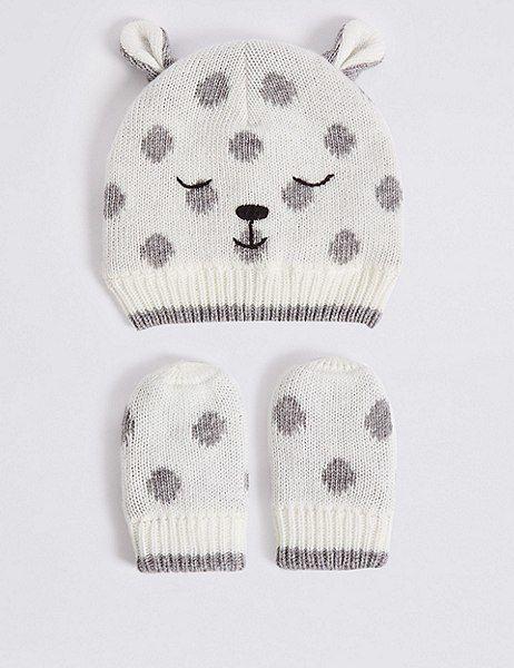 08e2394cd73 Baby Hat   Mittens Set