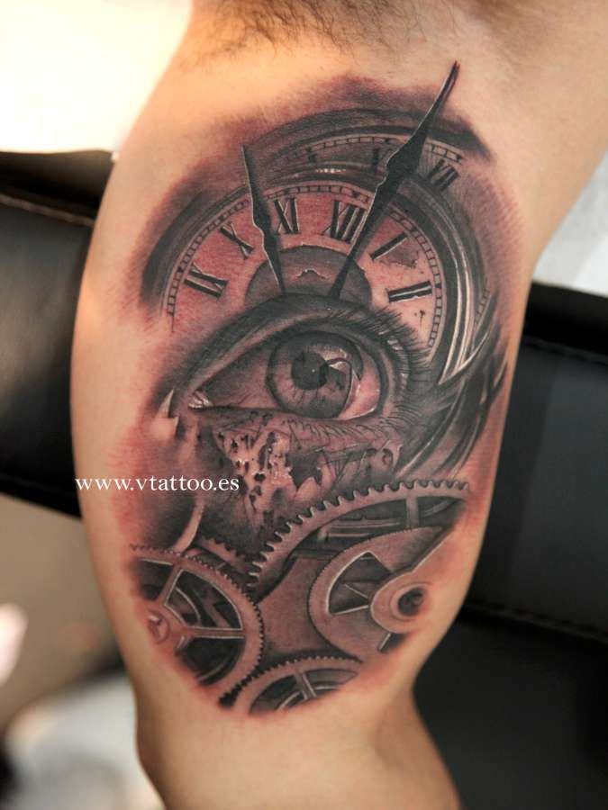 113 best images about clock tattoo on pinterest pocket for Eye with clock tattoo