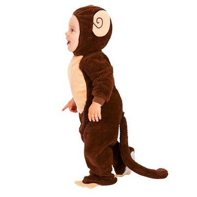 Lovely Monkey Baby Costume - (6-12 Months), Infant Unisex, Size: 6-12 M, Brown