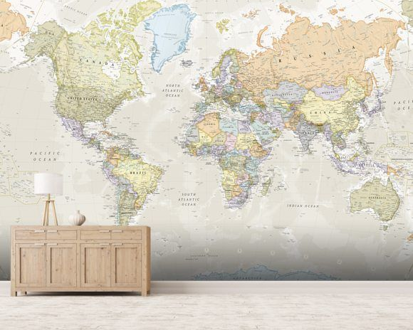 The 25 best world map wallpaper ideas on pinterest world map classic world map wall mural gumiabroncs Images