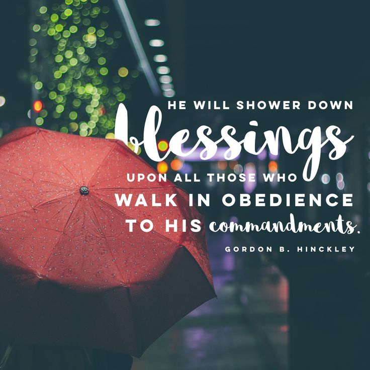 """He will shower down blessings...APRIL (showers)"