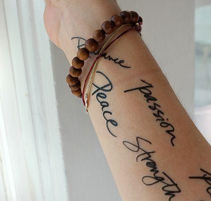 The Danielle LaPorte Tattoos Collection. Adorn your body temple, sexy. http://www.daniellelaporte.com/shop/#tattoos