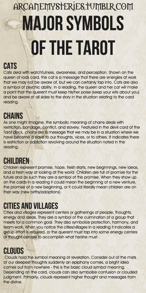 Tarot Tips. Major Symbols of the Tarot (8)…