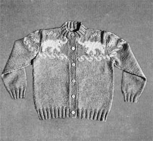 Boy's or Girl's Elephant Sweater, Size 3 | Knitting Patterns