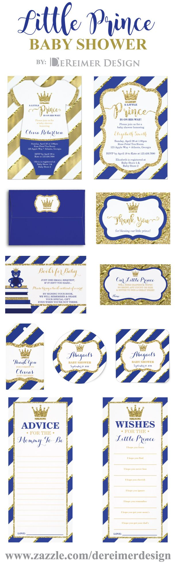 Little Prince Baby Shower, Royal Blue and Gold. Royal Baby Shower