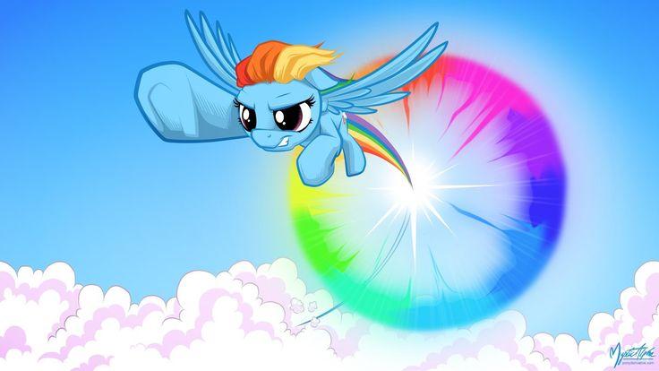 Mlp Rainbow Dash And Her Sonic Rainboom