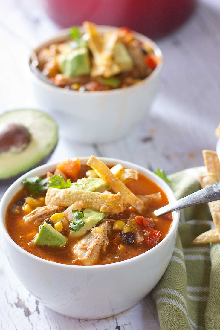 Skinny Chicken Taco Soup