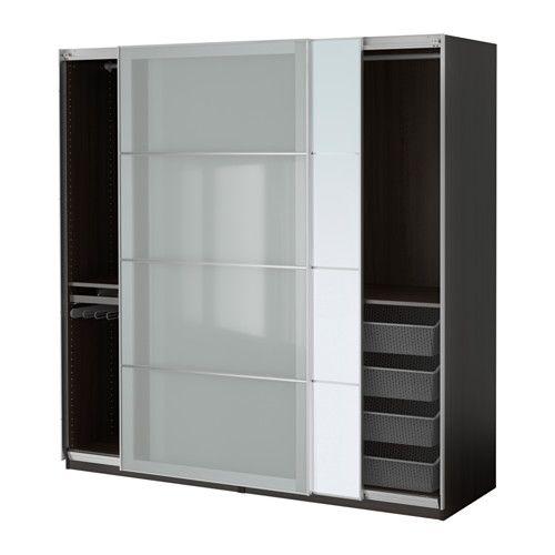 IKEA - PAX, Garderobekast, 200x66x201 cm, zachtsluitend beslag, , Gratis 10 jaar garantie. Raadpleeg onze folder voor de garantievoorwaarden.Deze kant-en-klare PAX/KOMPLEMENT-oplossing is met de PAX-planner makkelijk aan te passen aan je behoefte en smaak.Met schuifdeuren heb je meer ruimte voor meubels omdat ze geopend geen ruimte in beslag nemen.Houdt deuren tegen zodat ze langzaam, stil en zacht dichtgaan.Wil je de binnenkant op orde houden, dan kan je het geheel completeren met…