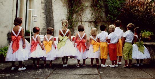 enfants d'honneur : cortège de mariage n°8