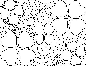 images of free printable abstracts coloring pages abstract heart flowers coloring page - Hearts Flowers Coloring Pages