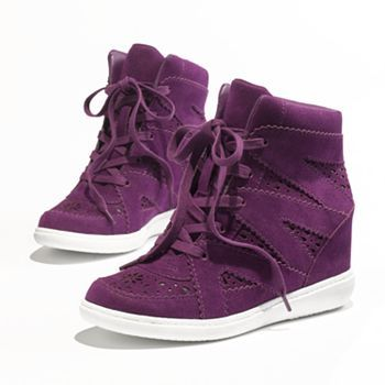 It's happening. I'm finally buying my first pair of wedge sneakers. Princess Vera Wang Wedge Sneakers //