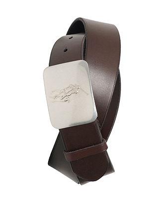 Polo Ralph Lauren Accessories, Pony Plaque Leather Belt - Men's Belts & Suspenders - Men - Macy's    #macysdreamfund